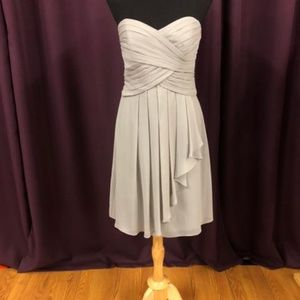 David's Bridal Size 6 Gray Formal Dress